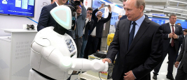 Vladimir Putin visiting a technological exhibition, Perm, 2017