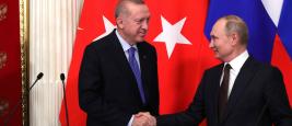 Les présidents R.T. Erdogan et V. Poutine, en mars 2020