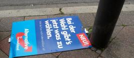 Vandalisme pendant une campagne électorale à Aix-la-Chapelle