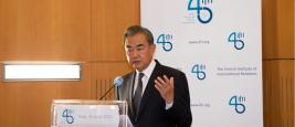 Wang YI, Ministre des Affaires étrangère de la Chine, Ifri