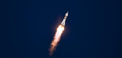 Lancement d'une fusée Soyouz depuis le cosmodrome de Baïkonour