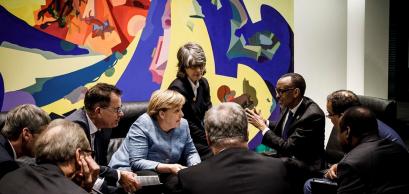 Le président Kagame rencontre la chancelière allemande Angela Merkel dans le cadre d'une conférence G20 Compact with Africa | Berlin, 30 octobre 2018