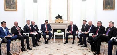 Talks between Vladimir Putin and Nicolas Maduro, September 2019