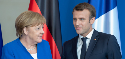 Berlin, Germany. 2019-04-29: German Chancellor Angela Merkel and the French President Emmanuel Macron