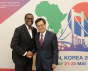 Akinwumi Ayodeji Adesina, président de la Banque africaine de Développement et Dong Yeon Kim, Vice-Premier ministre de la Corée du Sud, KOAFEC, mai 2018