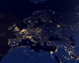 European Map Space View (Elements of this image furnished by NASA)-Shutterstock/Capitanoseye