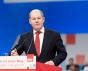 Olaf Scholz, Mitglied der Sozialdemokraten spricht auf dem Parteitag in Berlin. 17. Dezember 2017.
