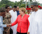 President Buhari receives in official visit German Chancellor, Angela Merkel in State House, August 31st, 2018. Copyright Channels TV.