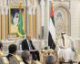 Le cheikh Mohammed ben Zayed Al Nahyane et Mohamed Ould Sheikh Al-Ghazouani aux Emirats arabes Unis