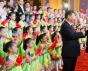 Le Président Donald Trump et le Président Xi Jinping rencontre des enfants lors de cérémonies de bienvenue, Pékin, 9 novembre 2017