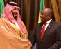 Le Prince Mohamed bin Salman et le Président Cyril Ramaphosa, Jeddah, juillet 2018