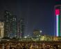 Beautiful view of Abu Dhabi city Famous Landscape.