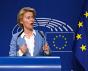 Bruxelles, Belgique, 10 juillet 2019. Ursula von der Leyen, la présidente désignée de la Commission européenne donne une conférence de presse.