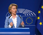 Brussels, Belgium. 10th July 2019. Ursula von der Leyen the nominated President of the EU Commission gives a press briefing.