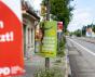 """Politische Plakate mit Wahlkampfslogans der Partei """"Die Grünen"""",  Augsburg, Bayern, Deutschland - 06. August 2021"""