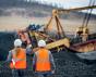 Opencast coal mine workers