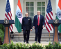 The Prime Minister Narendra Modi and the President Donald Trump at the Joint Press Statement, at White House, in Washington DC, USA on June 26, 2017.  © Wikipedia Commons
