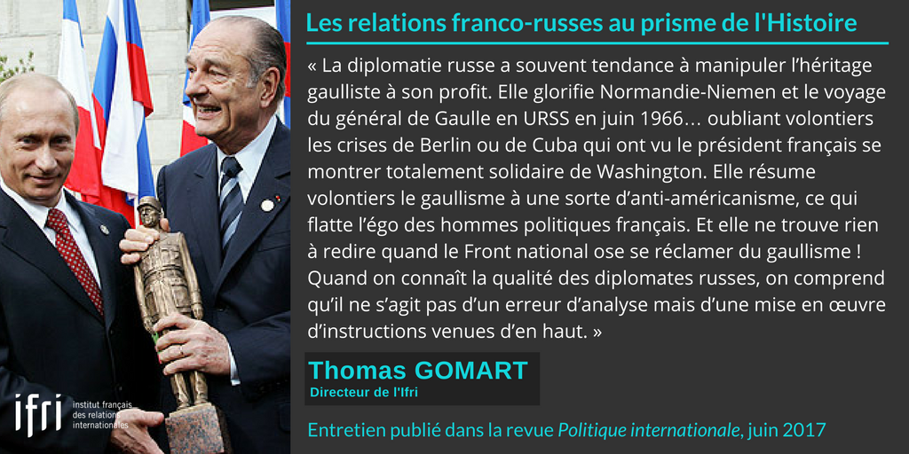 Citation - Russie - Thomas Gomart - Politique internationale - juin 2017