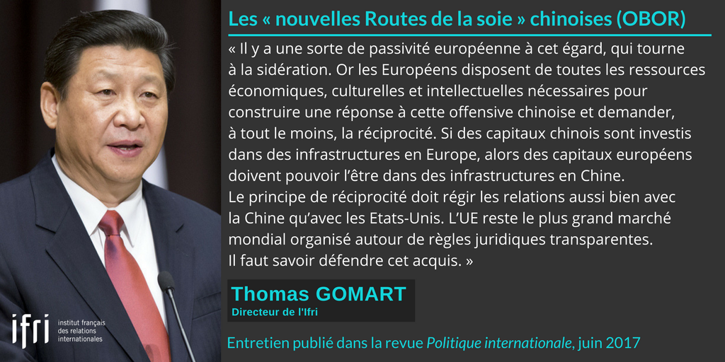 Citation - OBOR - Thomas Gomart - Politique internationale - juin 2017