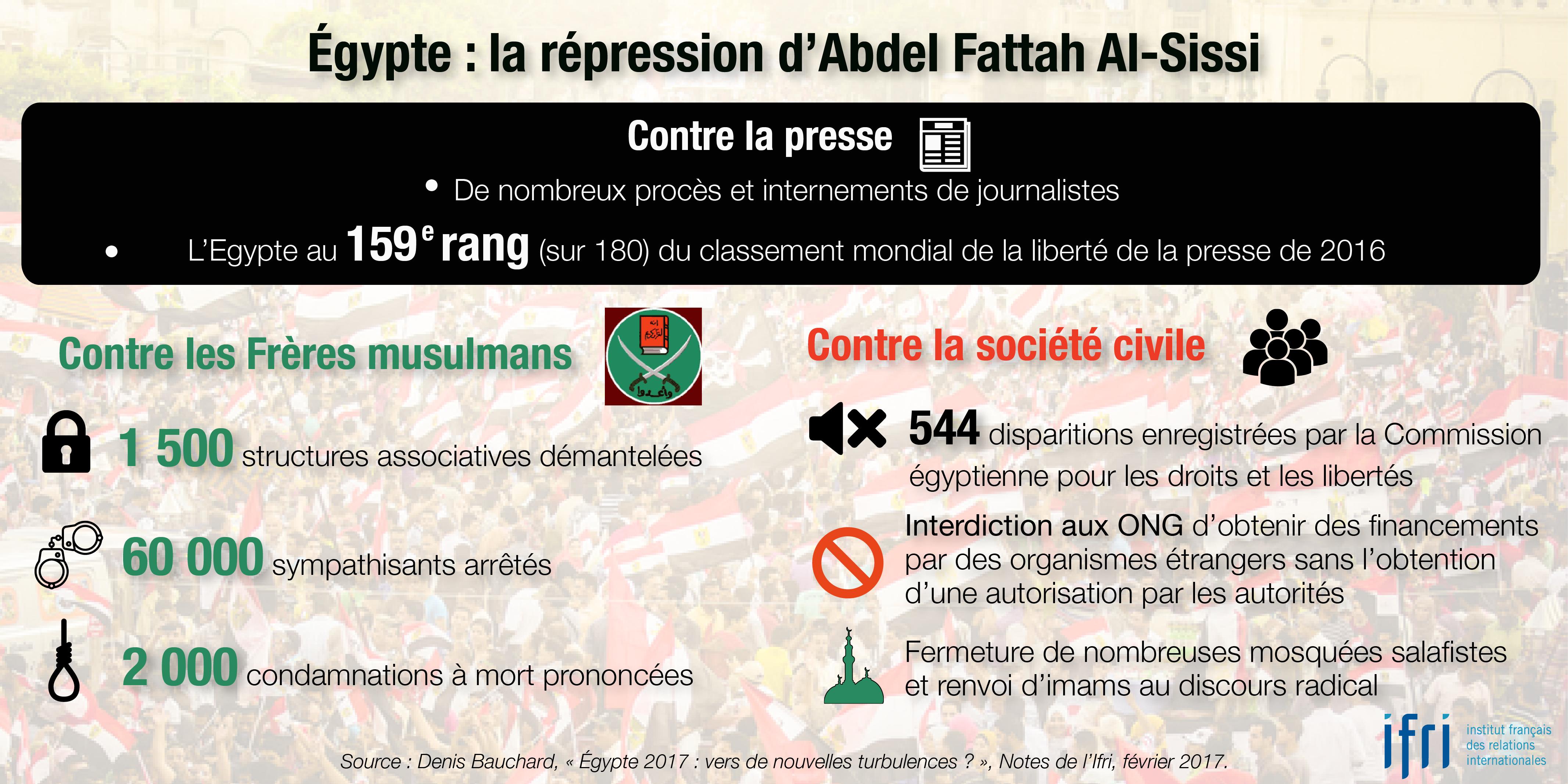 Egypte : la répression d'Abdel Fattah Al-Sissi