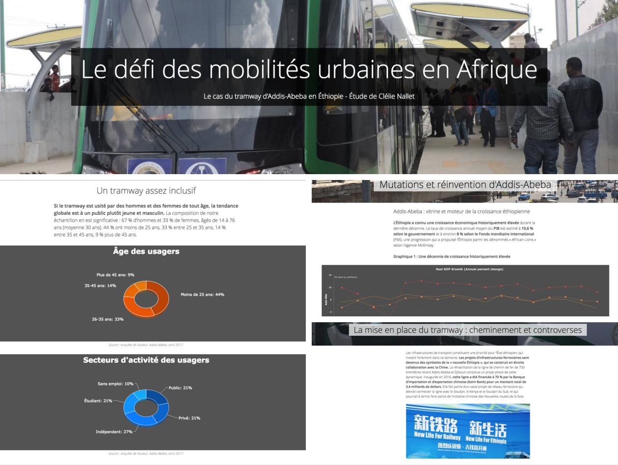 Présentation Storymaps : tramway d'Addis-Abeba