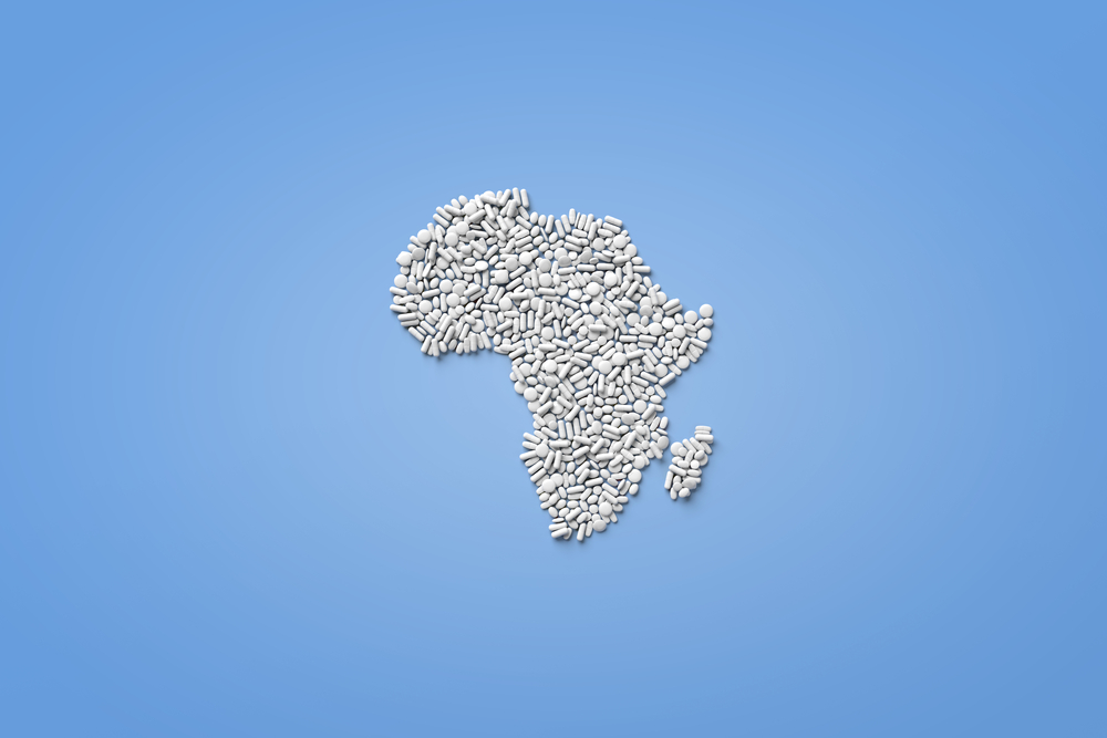 White pills African map